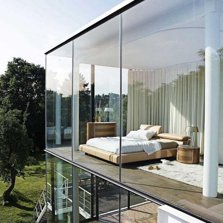 95+ Amazing Stylish Glass Wall Living Room Decor Ideas ...