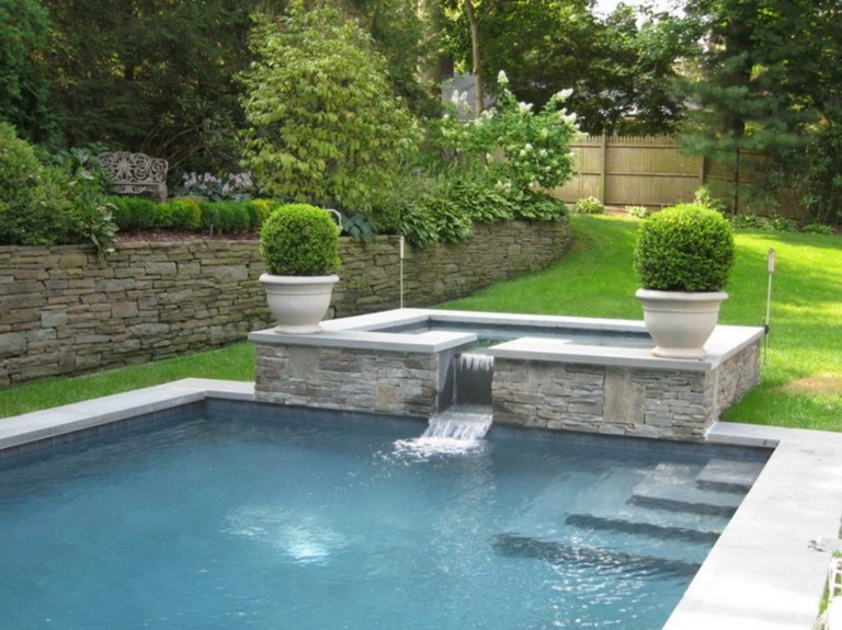 15 best modern farmhouse pool fountains ideas for you backyard pool renovation