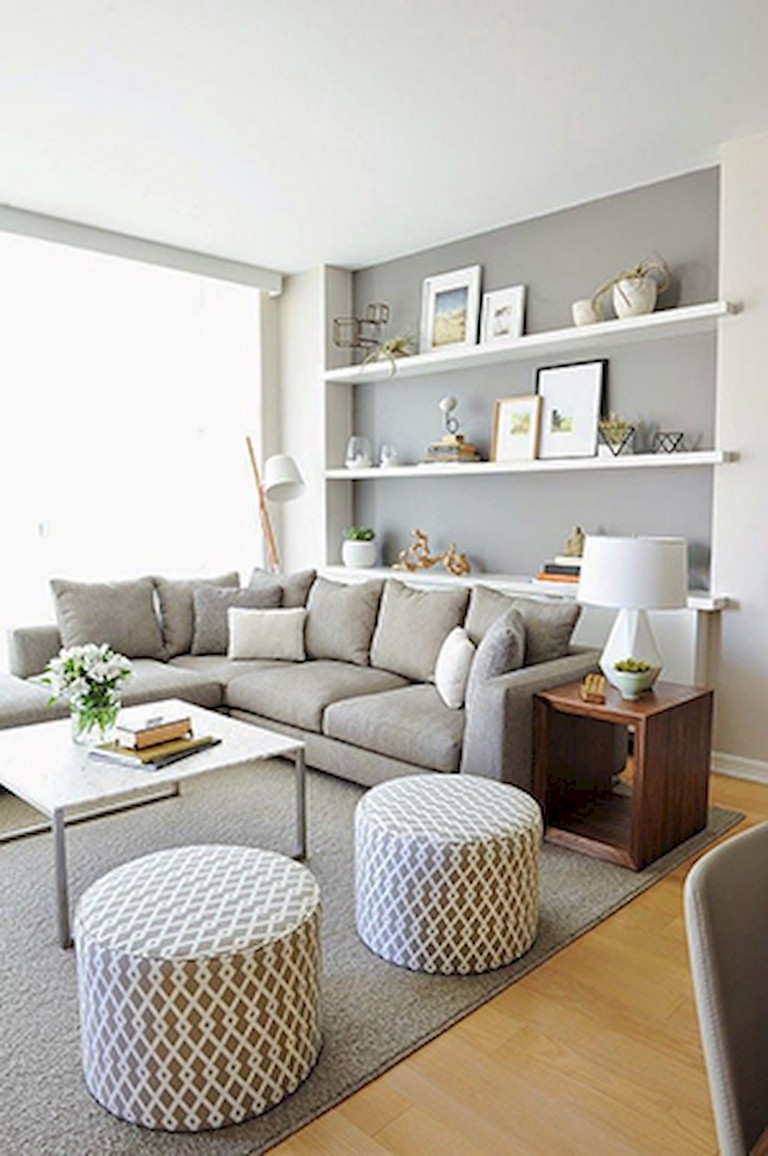 70+ Exciting Floating Shelves for Living Room Decorating ...