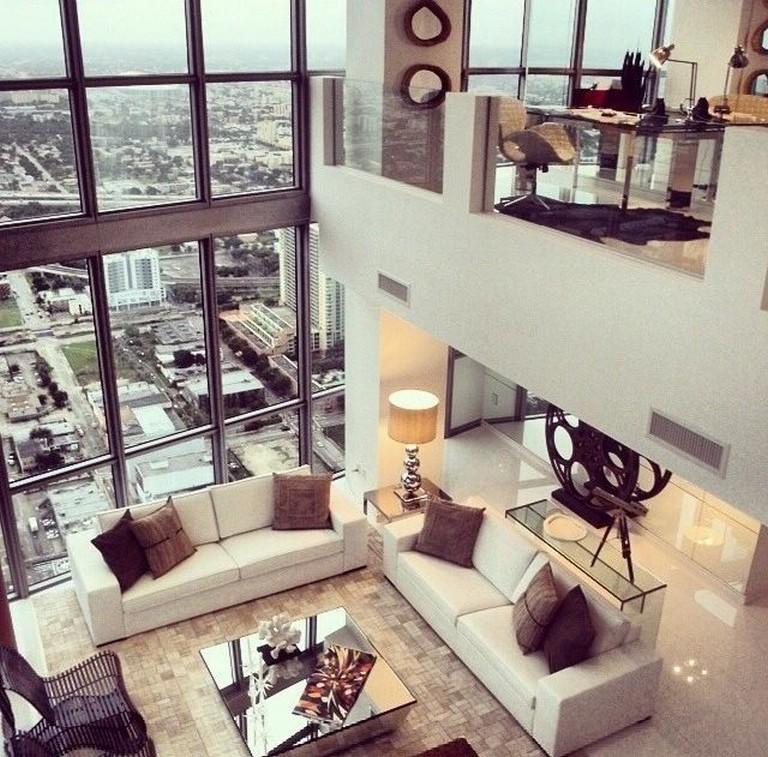 Next Living Room Ideas 2018: 95+ Amazing Stylish Glass Wall Living Room Decor Ideas