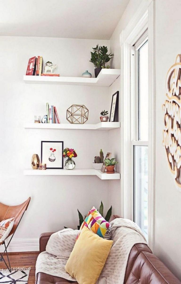 20+ Amazing Corner Shelves Design Ideas For Your Living Room