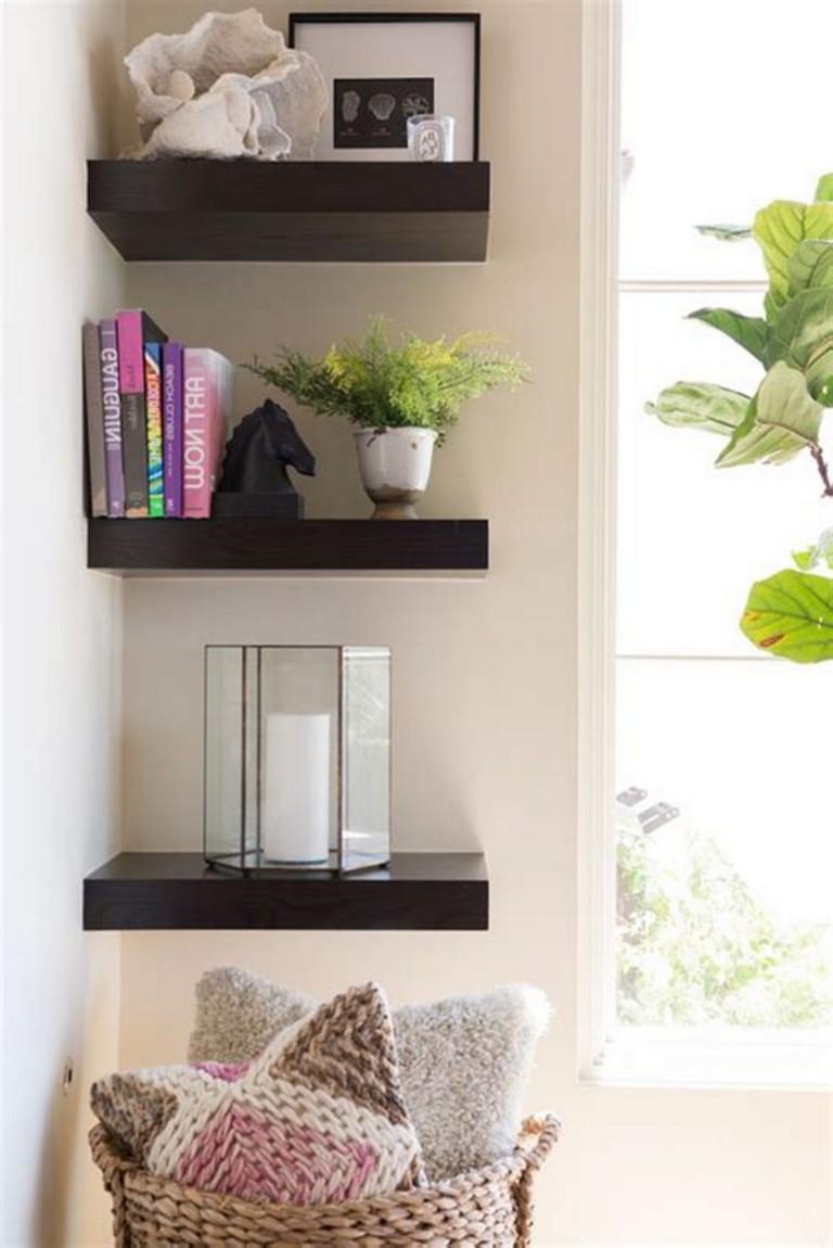 20 amazing corner shelves design ideas for your living